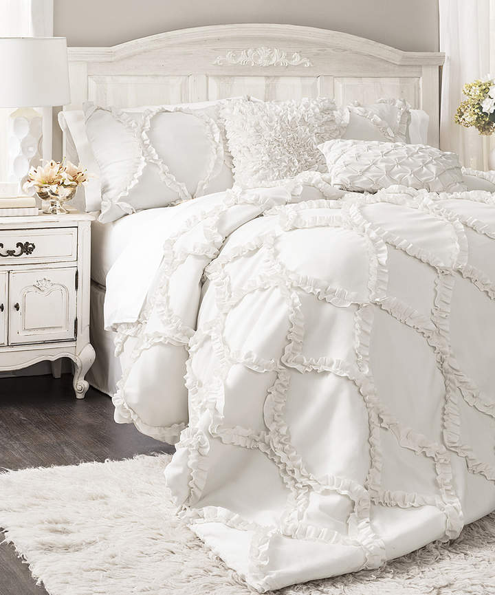 White Kennedy Comforter Set
