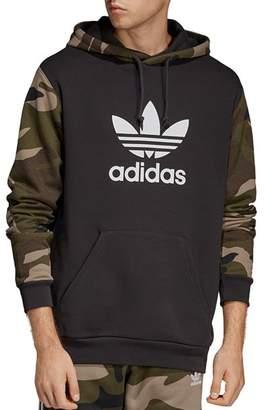 adidas Camouflage Color-Block Hooded Sweatshirt
