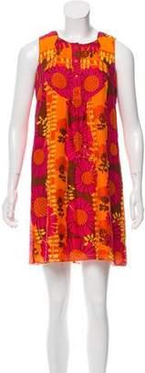 Anna Sui Sleeveless Floral Print Dress