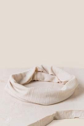 francesca's Becca Striped Headband - Ivory