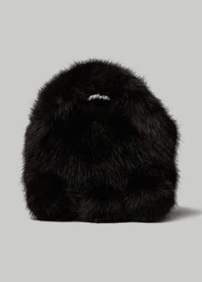 Comme des Garcons Faux Fur Bag in Black