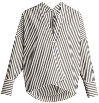 c548df1e46c Nili Lotan Sabine Striped Cotton Shirt - Womens - Black White