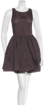 Alaia Lasercut Fit And Flare Dress