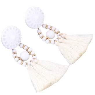 Cassandra YueLian Women's Vintage Boho Tassel Chandelier Dangle Earring