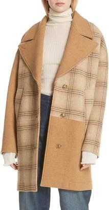 MM6 MAISON MARGIELA Patched Wool Coat