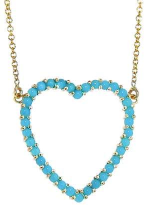 Jennifer Meyer Turquoise Open Heart Necklace