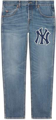 Gucci Men's denim pant with NY YankeesTM patch