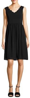 Adrianna Papell Sleeveless Scalloped Dress