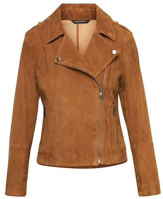 Banana Republic LIFE IN MOTION Stretch Suede Moto Jacket