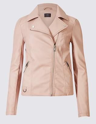 Marks and Spencer Faux Leather Biker Jacket