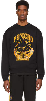 McQ Black and Yellow Psycho Billy Slouch Sweatshirt