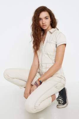 Santa Cruz UO Exclusive Ecru Boilersuit - white UK 10 at Urban Outfitters