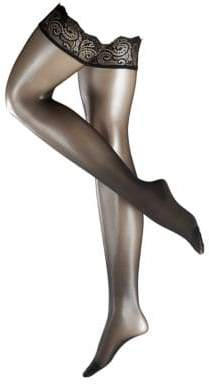 Falke Matte Deluxe 20 Stay-Up Paisley Band Thigh-High Tights