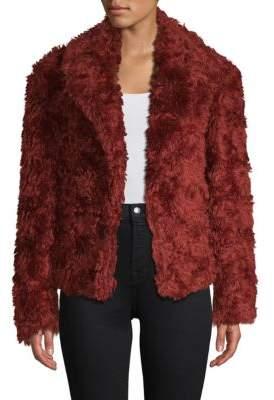 Dries Van Noten Faux Fur Swing Coat