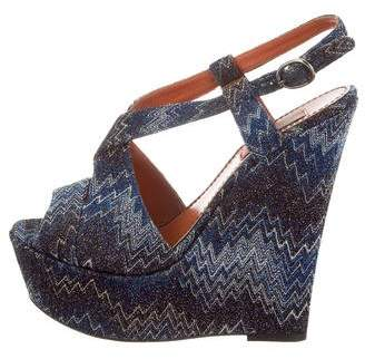 Missoni Chevron Platform Wedge Sandals
