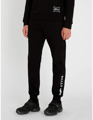 Bally x Shok-1 side-stripe skinny cotton-jersey jogging bottoms