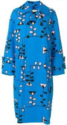 Marni geometric patterned coat