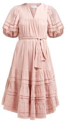 Zimmermann Heathers Cotton Midi Dress - Womens - Dark Pink