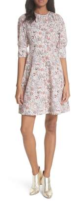 Rebecca Taylor Lotus Floral Cotton Dress