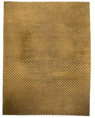 The Rug Company Hand-Tufted Wool Checkered Rug