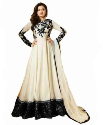 SHRI BALAJI SILK & COTTON SAREE EMPORIUM White Gown Anarkali Salwar Suit Dupatta Ceremony Patiyala Punjabi