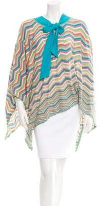 Stella McCartney Patterned Knit Poncho