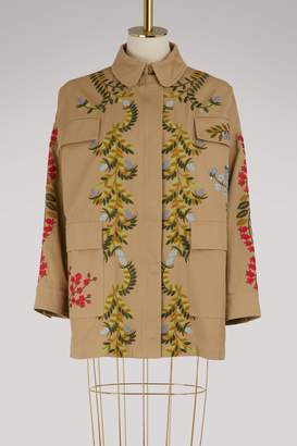RED Valentino Floral embroidered parka