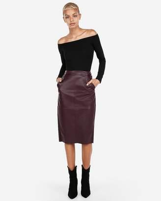 Express Petite Off The Shoulder Thong Bodysuit
