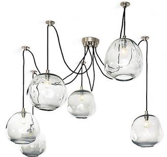 Regina-Andrew Design Molten Glass Chandelier - Silver - Regina Andrew Design
