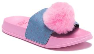 Jo-Jo JOJO SIWA Pompom Denim Slide Sandals (Little Kid & Big Kid)