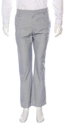 Save Khaki Striped Slim Fit Pants