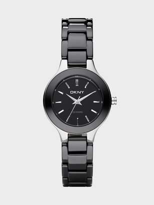 Donna Karan Donnakaran Black Ceramic Stainless Steel Watch