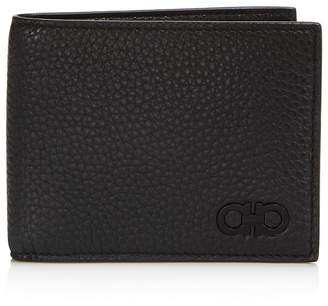 Salvatore Ferragamo Firenze Pebbled Leather Bifold Wallet