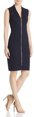 Elie Tahari Verdie Zip-Front Dress