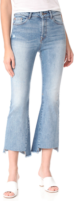 DL1961 Jackie Trimtone Cropped Flare Jeans $198 thestylecure.com