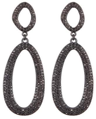 BaubleBar Daviana Pave Double Hoop Dangle Earrings