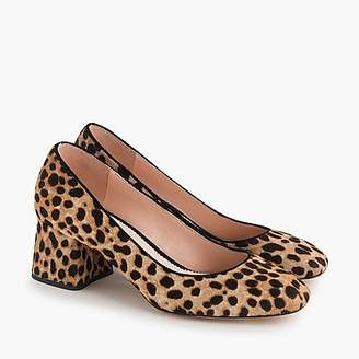J.Crew Block-heel pumps in leopard