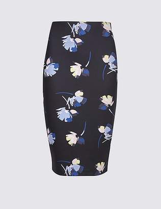Marks and Spencer Floral Print Pencil Skirt