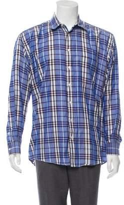 Burberry Checkered Button-Up Shirt