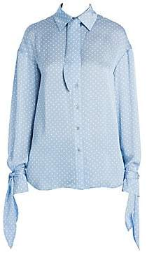 Magda Butrym Women's Queens Polka Dot Blouse