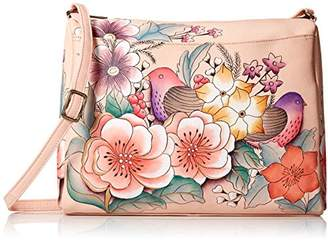 Anuschka Anna by Genuine Leather East West Crossbody Bag | Hand-Painted Original Artwork |
