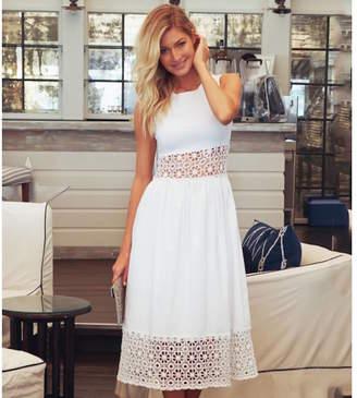 Aspiga White Cheltenham Cotton Dress
