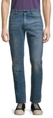 Fendi Embroidered Patch Jeans