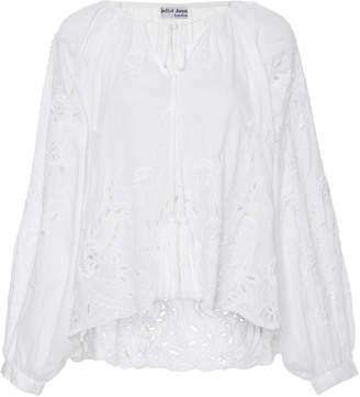 Juliet Dunn Broderie Anglaise Cotton Top