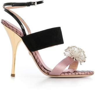 Giambattista Valli crystal embellished sandals