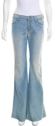 7 For All Mankind Biancha Mid-Rise Wide-Leg Jeans
