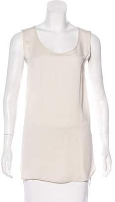 Max Mara Sleeveless High-Low Tunic