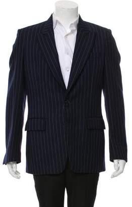Maison Margiela Wool Pinstripe Single-Button Blazer