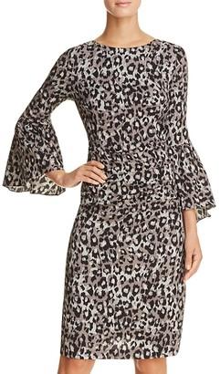Tracy Reese Flounce Sleeve Animal Print Dress $348 thestylecure.com