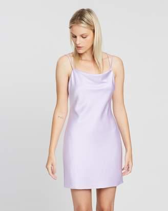 Alice + Olivia Harmony Double-Strap Mini Slip Dress